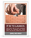 Businessman building a wall Ad Template