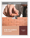 Businessman building a wall Word Templates