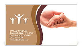 Hand in hand Business Card Template