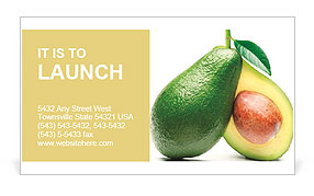 Yellow fruit Business Card Template