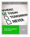 Do not put off till tomorrow what you can do today Word Templates