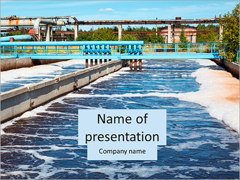 Water treatment plant PowerPoint Template