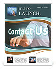 Contact Us word Flyer Template