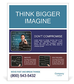 training concept word poster template design id 0000008693