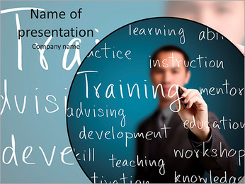 Training concept word PowerPoint Template