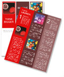 Red circles abstraction Newsletter Template