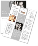 A young girl on a black white picture Newsletter Template