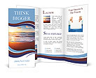 Sunset on the beautiful sea view Brochure Templates