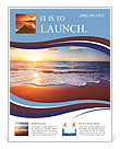 Sunset on the beautiful sea view Flyer Templates