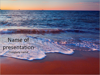 Sunset on the beautiful sea view PowerPoint Template