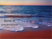 Sunset on the beautiful sea view PowerPoint Templates