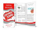 Customer Service word puzzle Brochure Templates