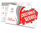 Customer Service word puzzle Postcard Template