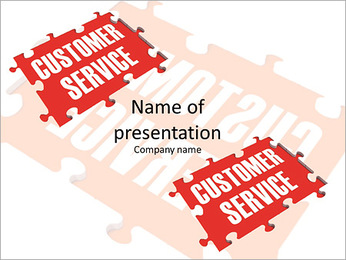 Customer Service word puzzle PowerPoint Template
