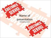 Customer Service word puzzle PowerPoint Templates