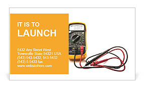 A device for measuring voltage Business Card Template