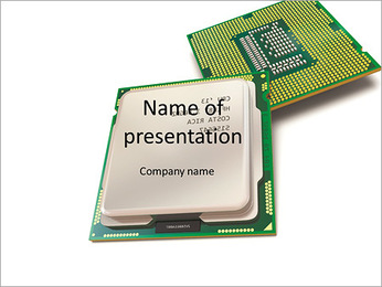 Chip computer processor PowerPoint Template
