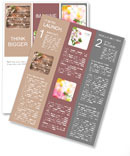 Beautiful flowers on a wooden floor Newsletter Templates