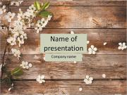 Beautiful flowers on a wooden floor PowerPoint Templates