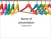 Colorful hangers for clothes on a white background PowerPoint Templates