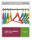 Colorful hangers for clothes on a white background Word Templates