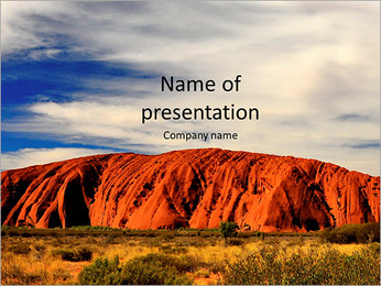 Beautiful mountain and green meadow PowerPoint Template
