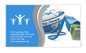 Make money on the internet Business Card Template