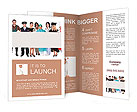 People of different professions are in the background presentation Brochure Templates