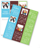 Cheerful students with backpacks standing Newsletter Template