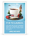 English tea as a tribute to traditions Ad Templates