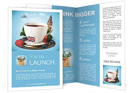 English Tea As A Tribute To Traditions Brochure Template