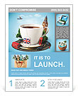 English tea as a tribute to traditions Flyer Template