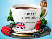 English tea as a tribute to traditions PowerPoint Templates