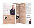 The mechanic on the background sketch car Brochure Templates