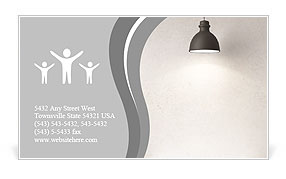 Old Lamp Business Card Template