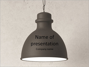 Old Lamp PowerPoint Template