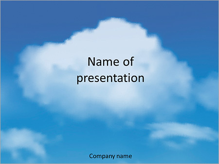 Blue Sky With Clouds Powerpoint Template Backgrounds Google