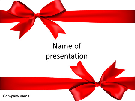 Red bow on a gift powerpoint template backgrounds google slides red bow on a gift powerpoint template negle Image collections