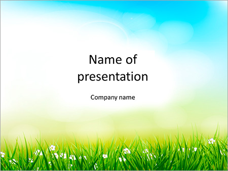 spring background powerpoint template & backgrounds id 0000008751, Modern powerpoint