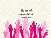 Hands raised up PowerPoint Templates