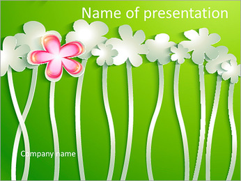 Paper flowers PowerPoint Template