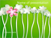 Paper flowers PowerPoint Templates