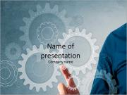 Gears of engineering work PowerPoint Templates