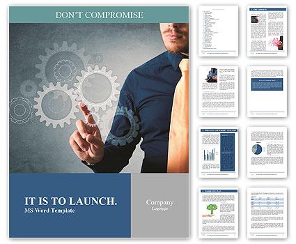 Gears Of Engineering Work Word Template Design Id 0000008760