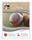 Baseball ball in flight Flyer Templates