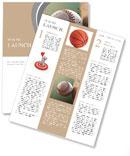 Baseball ball in flight Newsletter Template