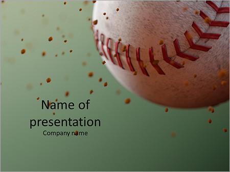 Baseball Ball In Flight Powerpoint Template  Backgrounds Id
