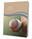 Baseball ball in flight Presentation Folder