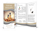 The man at the pinnacle of success extends a helping hand to a friend Brochure Templates
