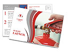 Fire extinguisher Postcard Template